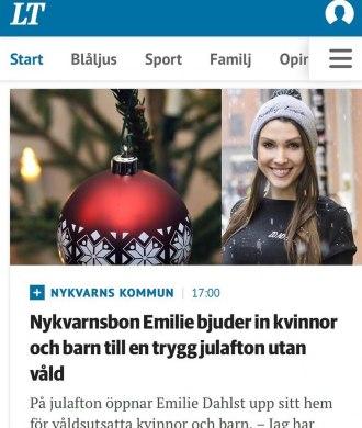 Emilie-Dahlst-bjuder-in-kvinnor-och-barn-julafton-vald-valdsutsatta-trygg-boende