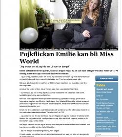Emilie-Dahlst-LT-artikel-Miss-World-2015-lanstidningen-Sodertalje